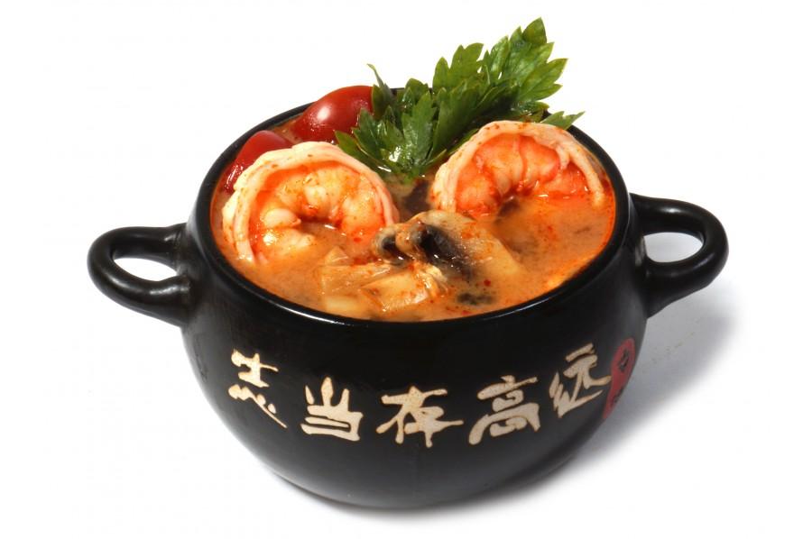 Том Ям - острый Тайский суп с креветками